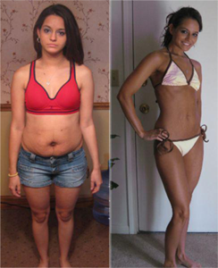 Cardio-kickboxing-before-after