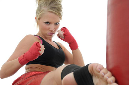 cardio kickboxing  burn fat lose weight with exciting